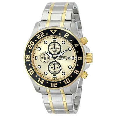 Invicta 15940 Gent's Chrono Gold Tone Dial Two Tone Steel Watch