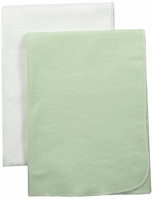NEW Under The Nile Swaddle Blanket Set, Green/White