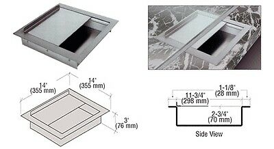 """Brsd Stainless Stl 14"""" Widex14"""" Deepx3"""" High Extra Deep Drop-In Deal Tray w/ Lid"""