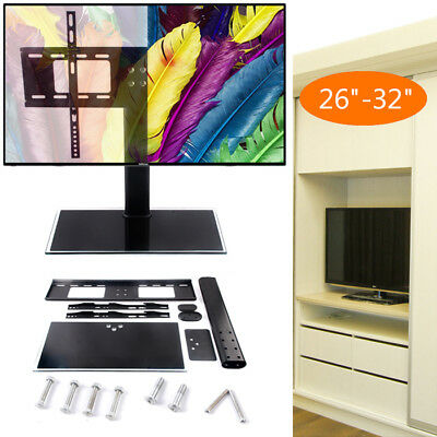 """Table Top Replacement TV Pedestal Stand Base fits 26""""-32"""" For LED LCD Plasma"""