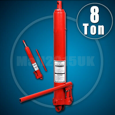 8 Ton Hydraulic Jack Long Ram Manual Arm Replacement Engine Lift Hoist Cherry