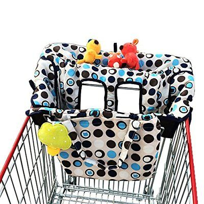 Crocnfrog 2-in-1 Shopping Cart Cover | High Chair Cover for Baby New
