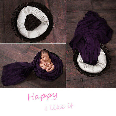 4PCS Newborn Pillow Basket Filler Wheat Donut Posing Props Set Photography Pop
