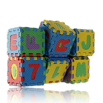 Kids Child Baby Infant Foam Alphabet Letters Numbers Play Mat Jigsaw Puzzle S