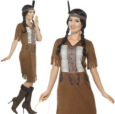 e6900ec24f1 NATIVE AMERICAN INSPIRED Warrior Princess Fancy Dress Costume Indian by  Smiffys