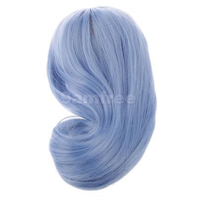 Blue Long Curly Wig Wavy Full Hairpiece for 1/6 Scale BJD SD BB Girl Dolls