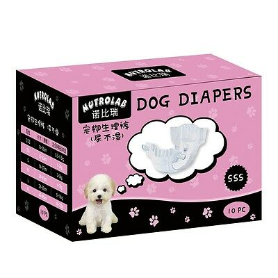 10pcs Clean Comfy Pet Disposable Baby Dog Puppy Cat Underwear Diapers Nappy Pads