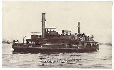WOOLWICH FERRY Paddle Steamer, RP Postcard by Molyneux Bros, Postally Used 1915