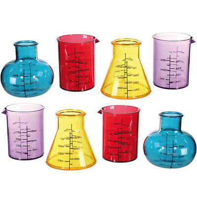 8 X Chemistry Shooter Glass Lab Style Party Bar Accessory Shot Glasses Drinks