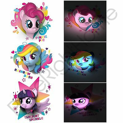 My Little Pony 3D Led Wall Light Pinkie Pie Rainbow Dash Childrens Lighting New