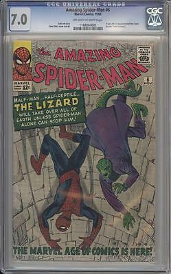 AMAZING SPIDER-MAN 6 - CGC 7.0 - 1st Appearance of The Lizard - Marvel Comics