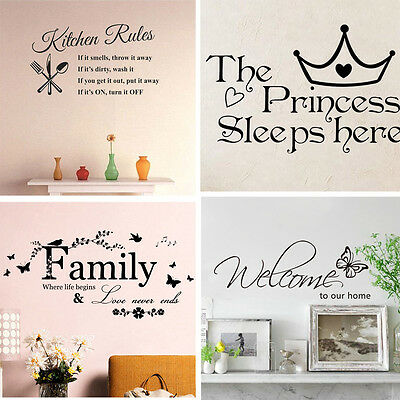 Family Kitchen Removable Wall Stickers Decal Art Vinyl Quotes Diy Room Decor