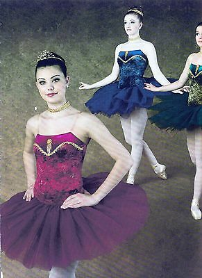 NWT BALLET Costume PISTACHIO Green VEVETEEN Hem Lace Bodice Euro length ch//Ladie