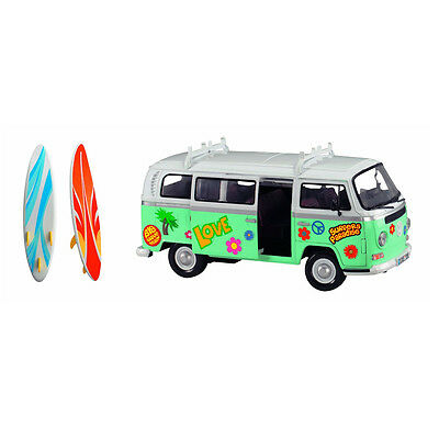 Dickie Toys Retro Model VW Microbus Surfer Van with Boards
