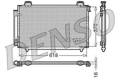 New Genuine Oe Denso - Air Conditioning Condenser - Dcn50016