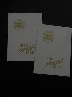 YUGOSLAVIA : Scarce 1988 Perf & Imperf numbered S/S neatly affixed in folders