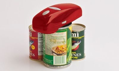 RED Handy Can Opener Automatic One Touch Electric Battery-Operated As Seen on TV