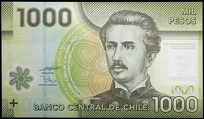 2010 Chile 1000 Pesos Banknote * Unc * P-161 * Polymer *