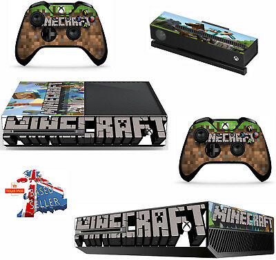 MINECRAFT  xbox one skins decals stickers + kinect + 2 controllers Game Two