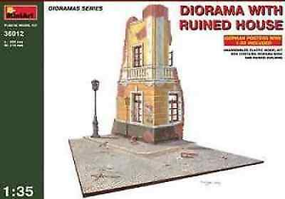 1:35 MINIART DIORAMA WITH RUINED HOUSE model kit 36012 plastic model kit