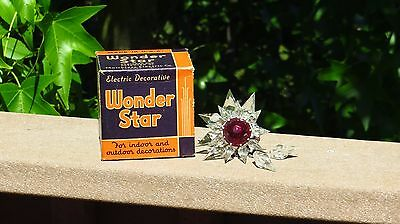 NOS Glass Matchless Wonder Star Double Ray Christmas Tree Light NOS BEAUTIFUL