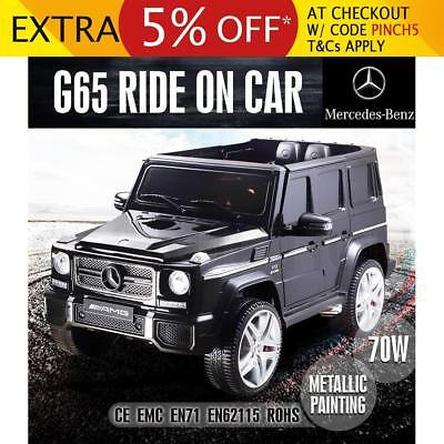 Kids Licensed Electric Ride on Car Mercedes-Benz G65 Toy Remote with Open Doors