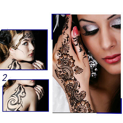 1Pc India Henna Temporary Tattoo Stencils Hand DIY Leg Arm Body Art Mehendi