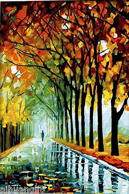 """16X20"""" DIY Paint By Number Kit Oil Painting On Canvas Autumn Scenery SPA012"""