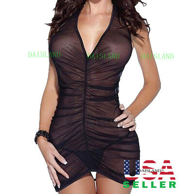 Hot&Sexy Women's Lingerie Dress Underwear Babydoll Sleepwear Nightwear+G-string