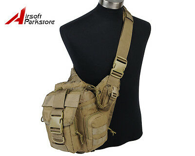 Tactical Military Hiking Hunting 1000D Molle Shoulder Backpack Bag Pouch Tan