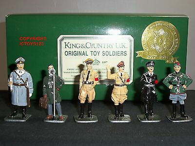 King And Country Axis Leaders World War Two Gloss Metal Toy Soldier Figure Set