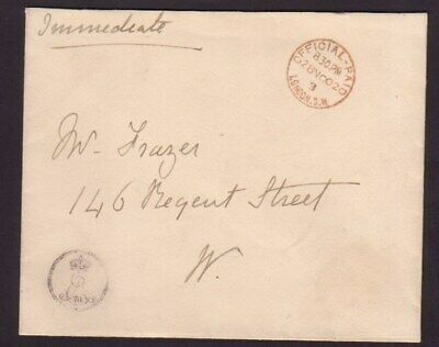King Edward Vii Writing Official Paid Stamp Cypher Buckingham Palace 1902