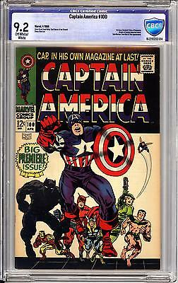 Captain America #100 Cbcs 9.2  Ow White Pages!  Jack Kirby, Stan Lee Story
