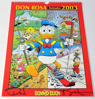 Don Rosa Kalender 2003 handsigniert Donald Duck rar norwegisch