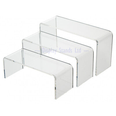 Clear Perspex Nesting Plinths Acrylic Riser Counter Jewellery Display Stand G140