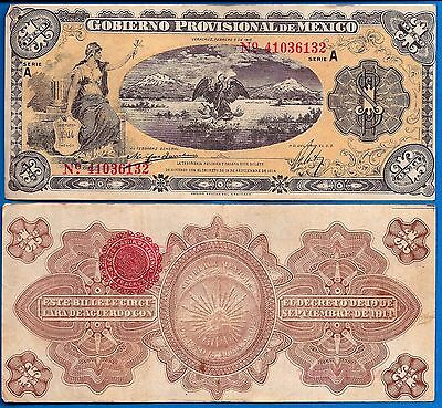 Mexico/Revolutionary S-1101c One Peso Year 1915 Banknote South  America
