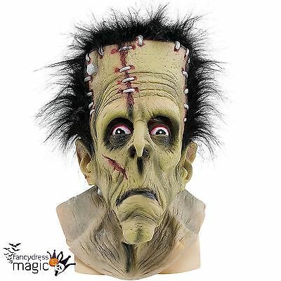 Adult Mens Frankenstein Green Monster Halloween Fancy Dress Costume Horror Mask