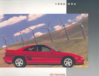1992 Toyota MR2 Brochure mx572-VL4MFQ