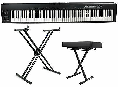 Alesis Q88 88-Key USB/MIDI Keyboard Controller + Music Software + Stand + Bench
