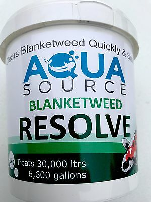 Aqua Source Blanketweed Resolve.Free P&P Fast Acting Blanket Weed Treatment.New