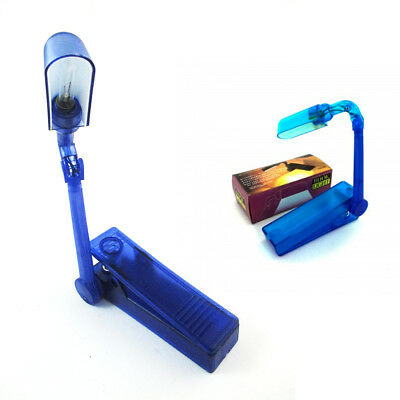 Compact Booklight Lamp Adjustable Clip On Travel Book Reading Light Lamp Battery