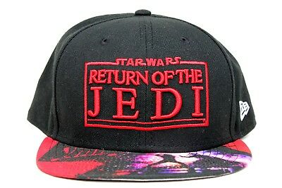 Star Wars Return Of The Jedi Visor Graphic Black New Era 59Fifty Fitted Hat  Cap 1a9c68eec79