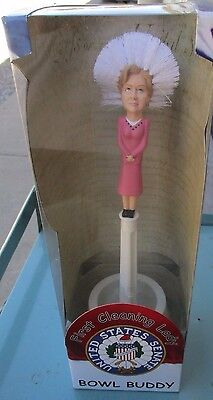 Hillary Clinton First Cleaning Lady Bowl Buddy Toilet Brush Gag