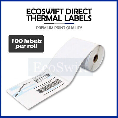 "1 Roll 100 4"" x 6"" Zebra 2844 Eltron Direct Thermal Shipping Printer 100 Labels"