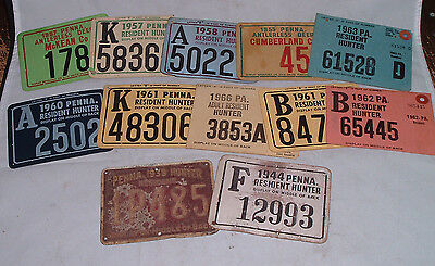 Vintage pa pennsylvania hunting license collection 1939 for Fishing license pa