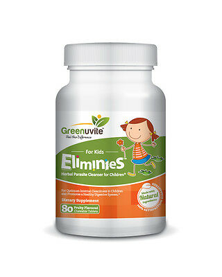 Greenuvite Eliminies™ Herbal Parasite Cleanser for Kids (80 Chewable Tabs)