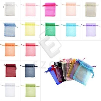 20pcs Organza Gift Bags Wedding Jewellery Pouches Candy Packing 6Size BM