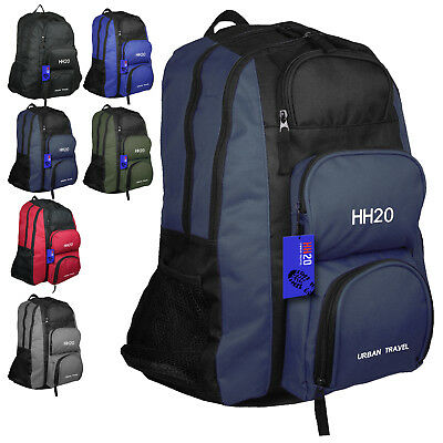 Mens Boys Large Backpack Big Rucksack Fishing Sports Travel Hiking School Bag UK