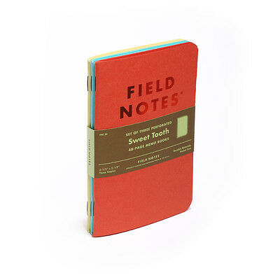 Field Notes Sweet Tooth Limited Edition 3-Pack Notebooks/ Journal- NEW FNC-30