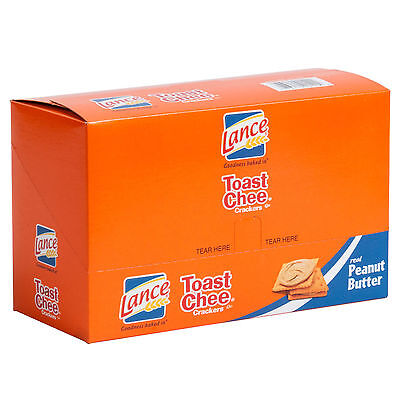 Lance Toast Chee Peanut Butter Sandwich Crackers 20 Count Box - 6/Case